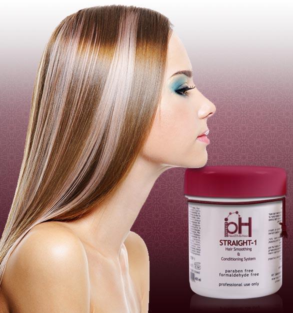 Affiche utilisée dans les salons de coiffure utilisant les lissages pH.