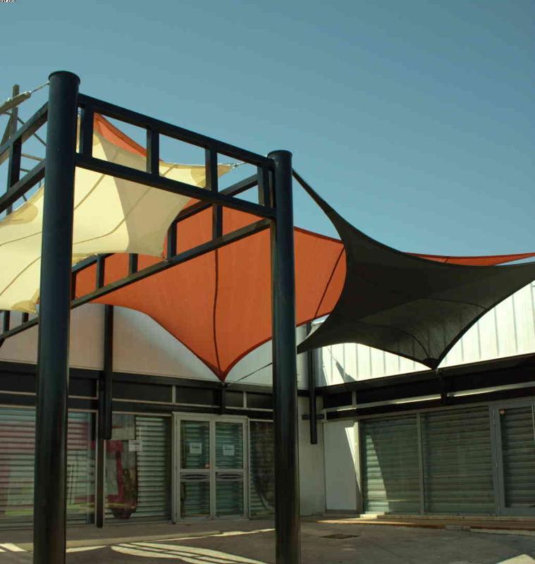 Shop front shade sails