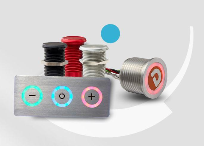 Touch metal piezo switches & keypads