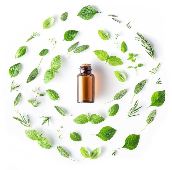 Kollektion von 100% reinen und natürlichen ätherischen Ölen