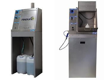 Automatic gun cleaner with fully automatic rinsing