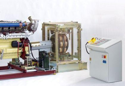 Engine test beds with eddy-current brakes (air-cooled or water-cooled), low-inertia hydrostatic braking dynamometers, br. dyn. with water brake, regenerative 4-Q-dynamometers, electric generators ...