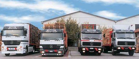 Automezzi Italpallets dedicati per ritiro e consegna