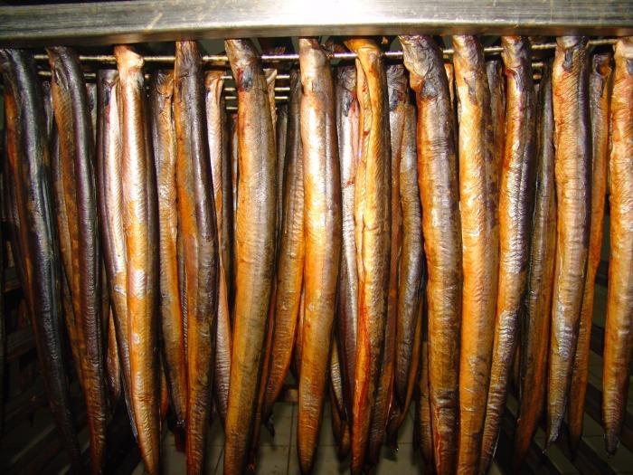 füme yılan balığı