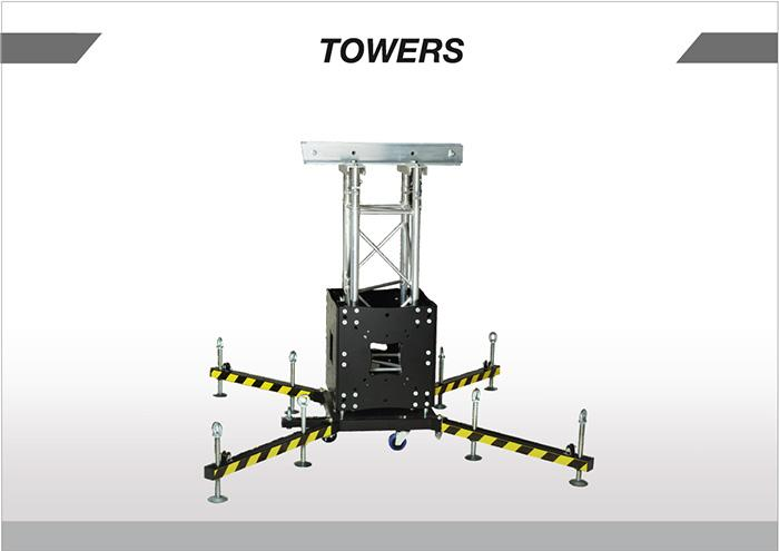 EFESTO for the TITANS towers  use of components meccanically assembled . TTITANS towers are structured with printed components and extruded profiles custom designed