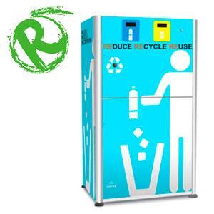 Máquinas de reciclaje por incentivos. Al depositar envases usados (PET, aluminio, botellas de plástico), la máquina ofrece al usuario descuentos en comercios o promociones para productos.