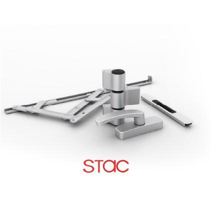 Diseño y fabricación de todo tipo de herraje y accesorios para sistemas de apertura de aluminio y PVC