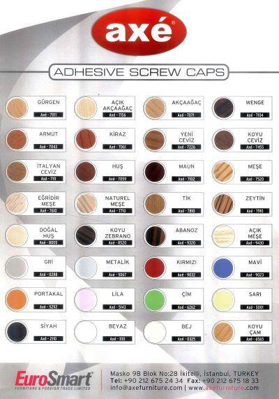 Adhesive Screw Caps