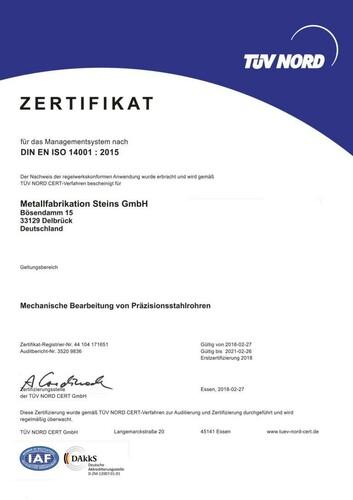 DIN EN ISO 14001:2015
