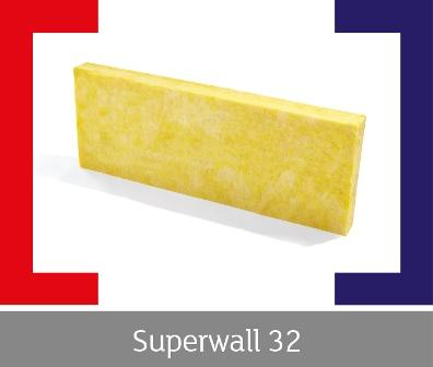 Superwall 32 is a BBA approved, glass wool cavity wall slab. Treated with water repellent additives, Superwall 32 is intended for new masonry walls in full fill or partial fill applications.