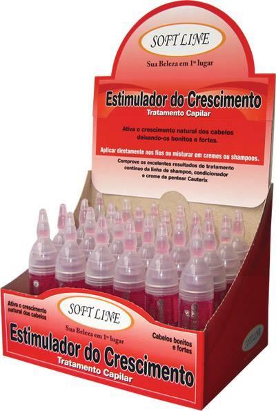 AMPOLAS TRATAMENTO CAPILAR ESTIMULADOR DE CRESCIMENTO SOFTLINE DISPALY C/24 AMPOLAS DE 10ML