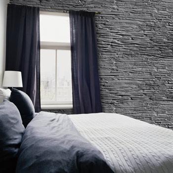 Fiberglass wall coverings model M-095 Black Slate