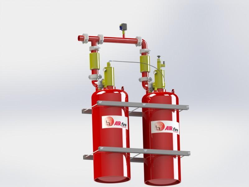 Sistemas de extinción de incendios por agentes químicos: HFC-227ea (FM-200), HFC-125 (FE-25) y FK 5-1-12 (NOVEC), disponibles en variedad de presiones y tamaños de cilindros para mejor adaptarse.