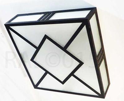 Création Raphaël ARMAND Luminaires ©2015  Finition Noir mat  2 dimensions proposées : 70X70X15 43X43X15