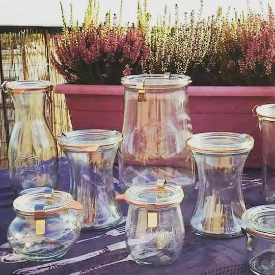 bocales en vidrio para la conserva
