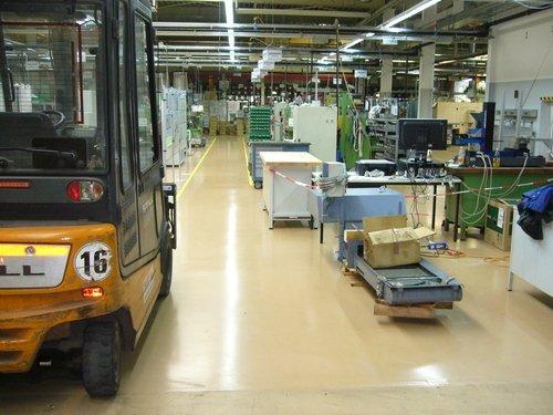 Industrieboden Druckerei