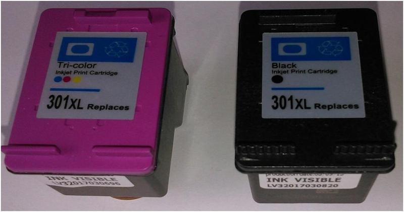 Tinteiros Reciclados com eletrónica modificada. Níveis de Tinta Correctos. Sem luz intermitente de aviso. Funciona em todas as impressoras
