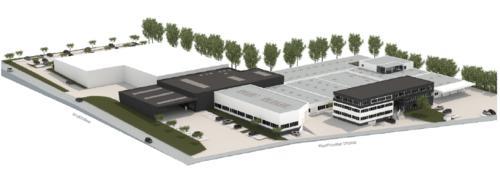 Neue Produktionshallen