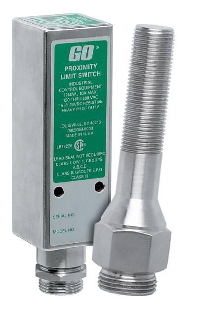 Naderingsschakelaars - les interrupteurs de proximité GO Switch a une technologie hybride dans laquelle la position des objets en métal ferreux est détectée à l'aide d'un champ électromagnétique