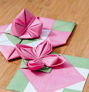 Origami napkins, Arilaid, 40 x 40 cm, 1-ply, packs of 12 pieces