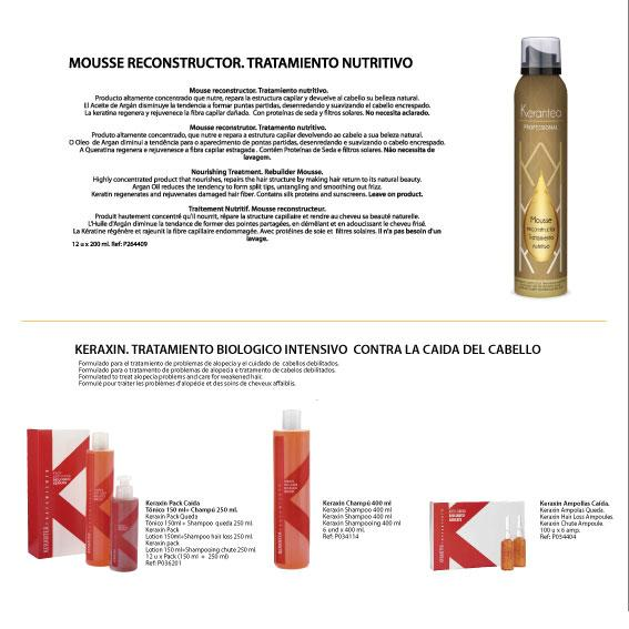Kerantea Mousse and Keraxin anti fall treatment