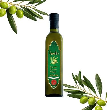 Use the Fameolive extra virgin olive oil in your creative cooking. It highlights the vegetables in your salads and gives marinades, dressings, and sauces a uniquely rich flavor.