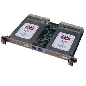 The 6U VME USB3 Carrier with Removable Drive Modules consists of 2 components; the 6U VME carrier board mounted in the 6U VME chassis and support for one or two removeable drive modules.