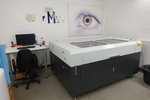 Laserabteilung (u.a. Acrylglas und Holz)