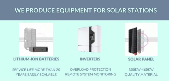 Solar station equipment