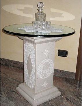 """Creazioni in marmo granito e marmotecnico """"Quarella"""" tramite la tecnologia 3D."""