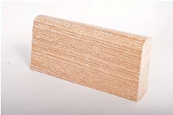 Battiscopa 80x20 impiallacciato rovere Decapato bianco / Veneered Skirting Board 20x80 Chalked Oak / Sockelleiste 20x80 Eiche Weiss