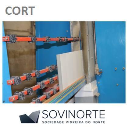 Corte de vidro à mão ou em CNC, reto ou curvo