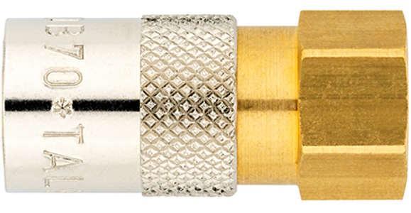Temperierkupplungen in verschiedenen Varianten, mit Tülle oder mit Gewinde. Automatisch oder mechanisch verschließbar