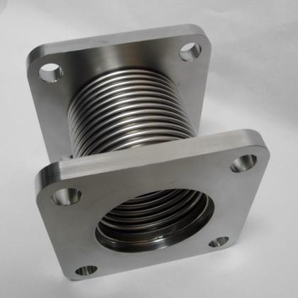 Axial bellows - specially shaped flanges