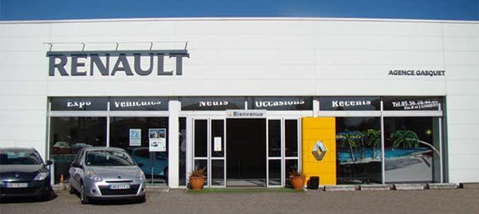 Devanture de votre ETS Gasquet & Fils Renault à Eysines, France