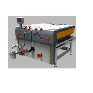 Machine  is designed for filler, paint and varnish application on wood, glass, metal and pvc panels with flat surfaces such as mdf, chipboard and plywood planks, parquet, flat door panels, on all flat