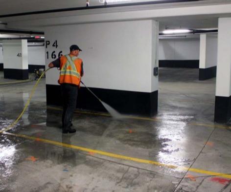 INOVA : Nettoyage de parkings
