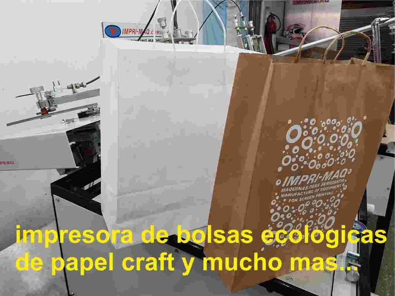 maquina de serigrafia para imprimir bolsas papel