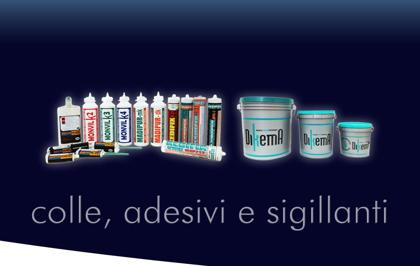 Dikema del gruppo Diana e molteplici altre marche di prodotti per tutte le esigenze di sigillatura e chiusura ermetica.