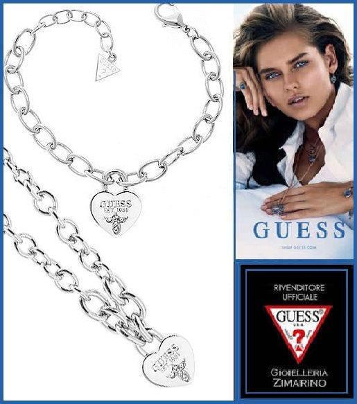 """Collana e bracciale Guess donna collezione """"Guess Iconic"""" UBN21577 Per la donna Guess Jewellery reinterpreta in maniera energica e rock uno dei simboli più iconici di Guess gioielli: il Cuore."""