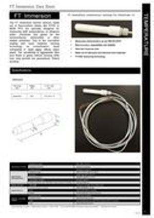 FT-Immersion Hochtemperatursensor (Manuelle Ausführung)