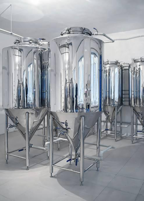 300 l fermenters with heat insulation and cooling jacket