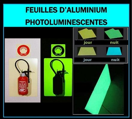 Feuilles d'Alumium Photoluminescentes