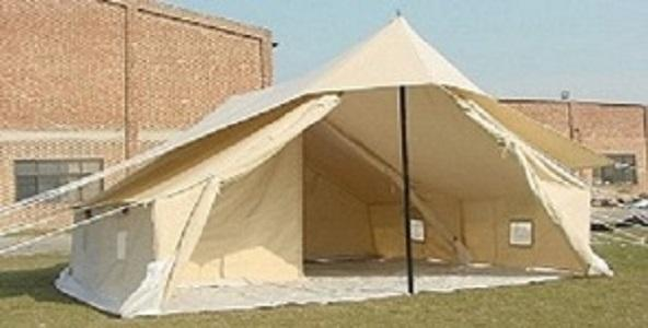 6x4m Double Fly Canvas Tent