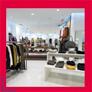 Ladeneinrichtungen in Textil