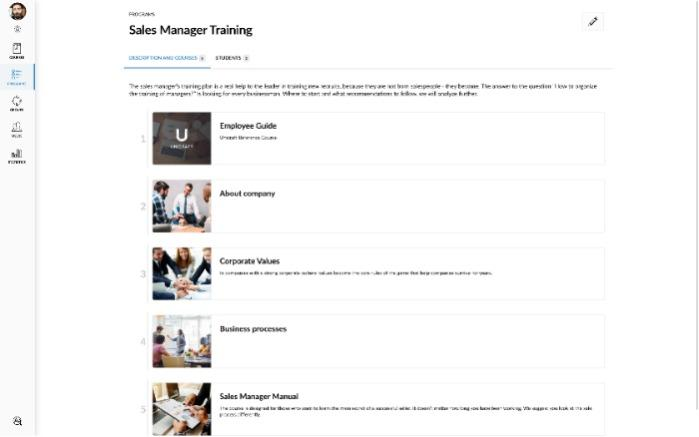 Personal training programs