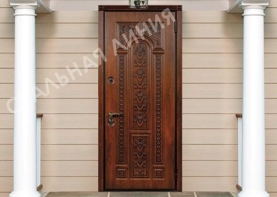 Steel security panneled doors