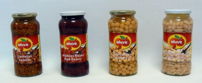chik peas, white beans, red beans, lentils, origine spain