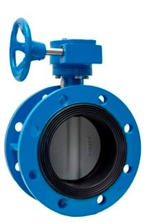 Double flange soft sealing butterfly valve