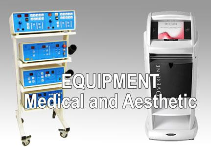 Equipments for aesthetical and physiotherapy centers. Made in Italy